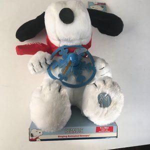 NWT- Singing Animated Christmas Snoopy